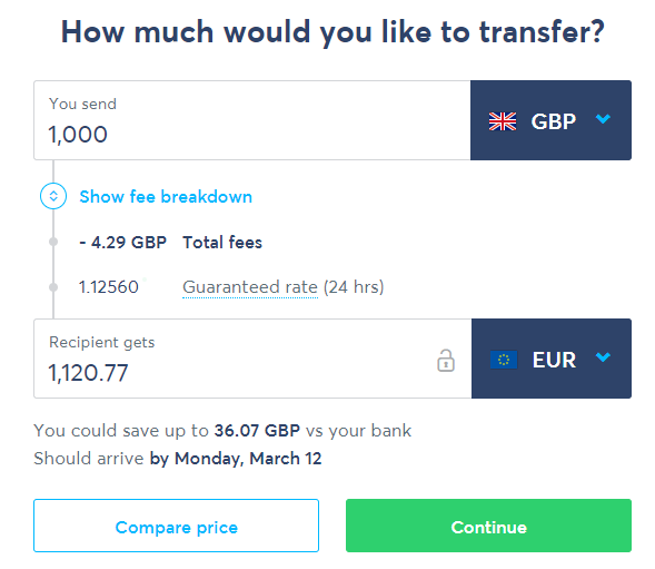 How much would you like to transfer