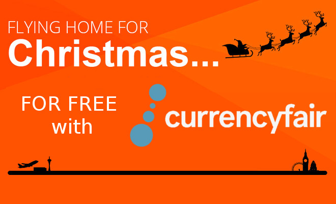 CurrencyFair free flight home for Christmas draw