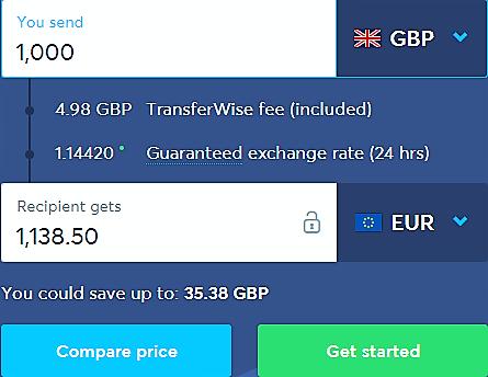 Guaranteed exchange rate