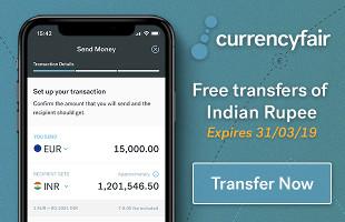Free tranfers to India promo